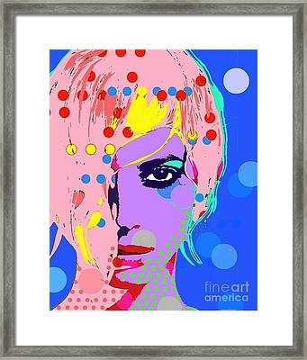 Christy Turlington Framed Print by Ricky Sencion