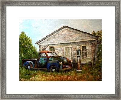 Framed Print featuring the painting Chromatic Chevy by Sandra Nardone