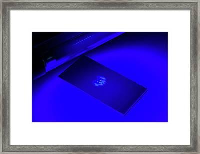 Chromatogram Under Uv Light Framed Print by Trevor Clifford Photography