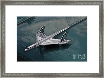 Chrome Airplane Hood Ornament Framed Print