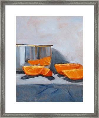Chrome And Oranges Framed Print