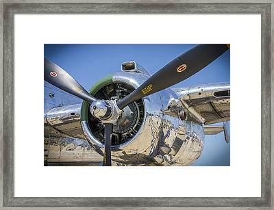 Framed Print featuring the photograph Chrome And Sky by Bradley Clay