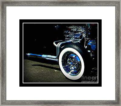 Framed Print featuring the photograph Chrome  by Bobbee Rickard