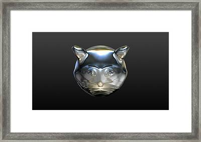 Chrome Cat Framed Print by Stacy C Bottoms