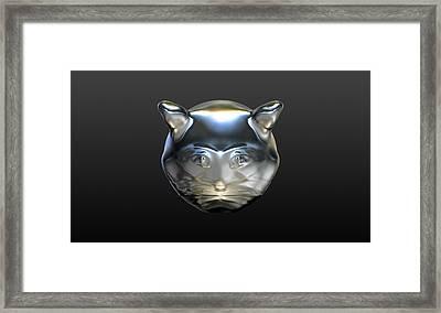 Chrome Cat Framed Print