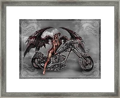 Chrome Dragon Framed Print