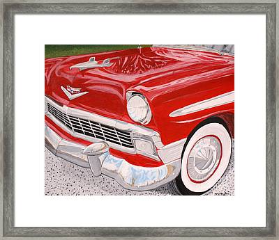 Chrome King 1956 Bel Air Framed Print by Vicki Maheu
