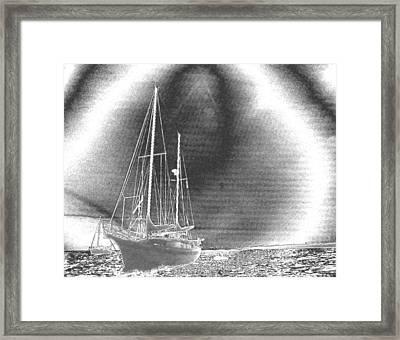 Chromed Sailboats In Key Largo Framed Print