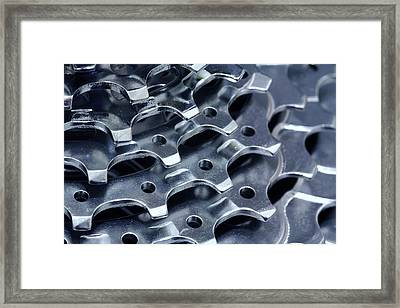 Chromed Shiny Gear Shift Framed Print