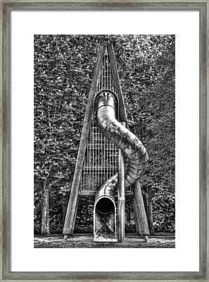 Chromium Slide Framed Print