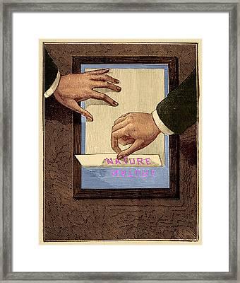 Chromograph Illustration Framed Print by David Parker