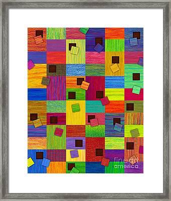Chronic Tiling Framed Print by David K Small