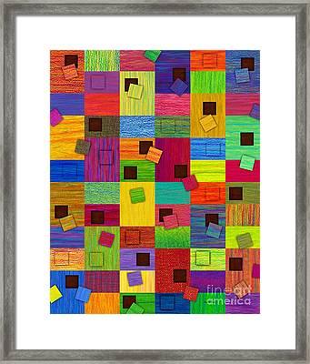 Chronic Tiling V2.0 Framed Print by David K Small