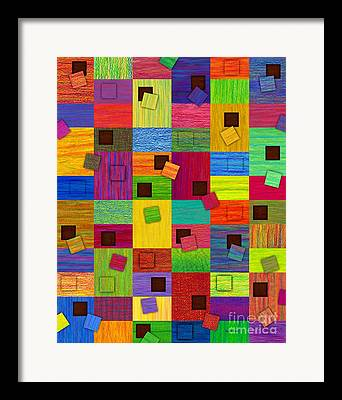 Abstract Collage Drawings Framed Prints