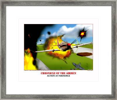 Chronicles Of The Airmen Action At Pardubice Framed Print