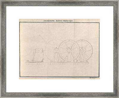 Chronograph, 19th Century Artwork Framed Print by Science Photo Library
