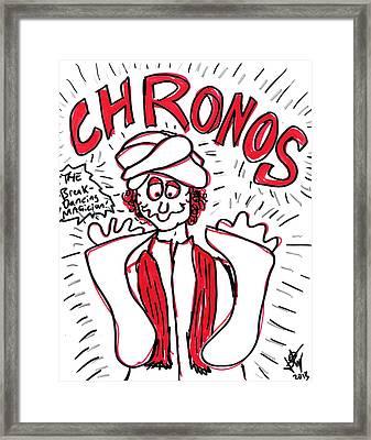 Chronos The Breakdancing Magician Framed Print