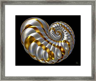 Chrysalis Shell Framed Print by Manny Lorenzo