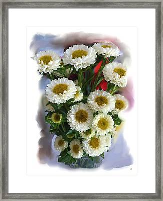 Chrysanthemum Painting Framed Print