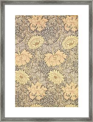 Chrysanthemum Framed Print by William Morris