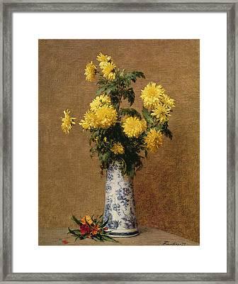 Chrysanthemums, 1879 Framed Print