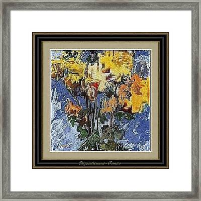 Framed Print featuring the painting chrysanthemums C2 by Pemaro