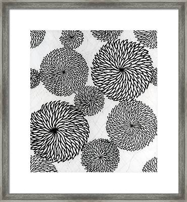 Chrysanthemums Framed Print by Japanese School