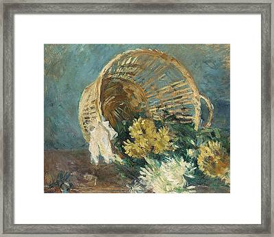 Chrysanthemums Or The Overturned Basket Framed Print