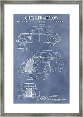 Chrysler Airflow Patent Framed Print by Dan Sproul