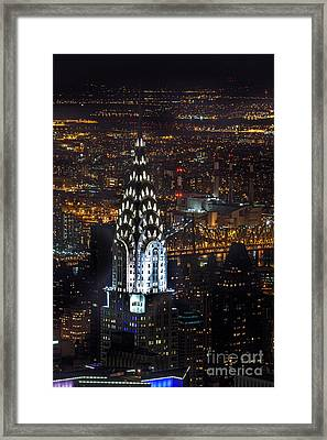 Chrysler Buiilding Framed Print by John Farnan