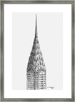 Chrysler Building Framed Print by Al Intindola