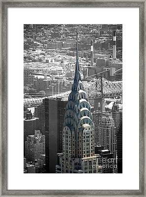 Framed Print featuring the photograph Chrysler Building by Angela DeFrias