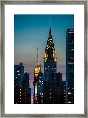 Chrysler Building At Sunset Framed Print