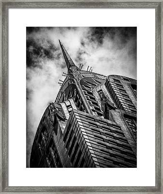 Chrysler Building - Black And White Framed Print