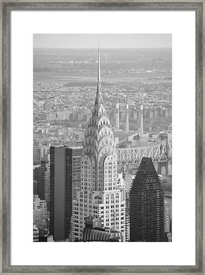 Chrysler Building Black And White Framed Print by Robert  Moss