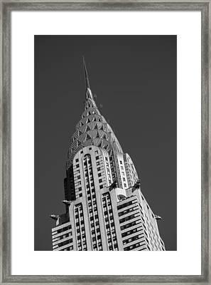 Chrysler Building Bw Framed Print by Susan Candelario