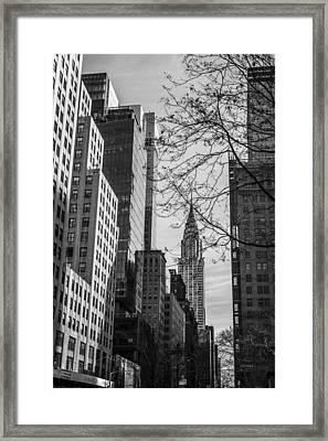 Chrysler Building Framed Print by David Morefield