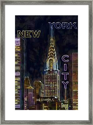 Chrysler Building New York City Nyc Framed Print by Susan Candelario