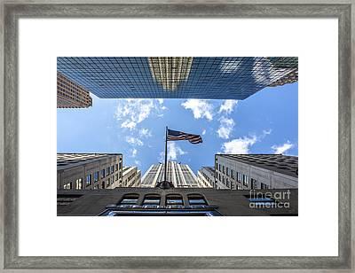 Chrysler Building Reflections Horizontal Framed Print by Nishanth Gopinathan