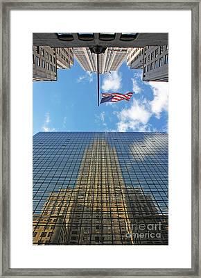 Chrysler Building Reflections Vertical 1 Framed Print by Nishanth Gopinathan