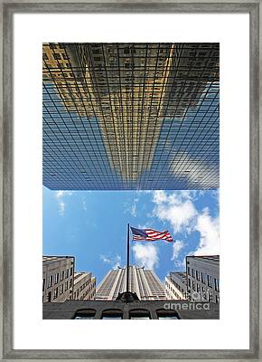Chrysler Building Reflections Vertical 2 Framed Print by Nishanth Gopinathan