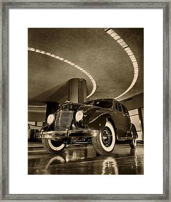 Chrysler Building Showroom Framed Print by Underwood Archives