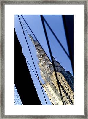 Chrysler Building Framed Print by Tony Cordoza