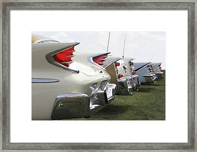 Chrysler Fins Framed Print by Mike McGlothlen