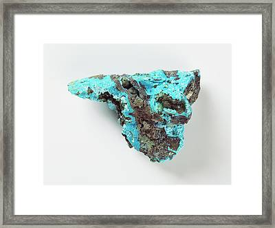 Chrysocolla With Azurite Framed Print by Dorling Kindersley/uig