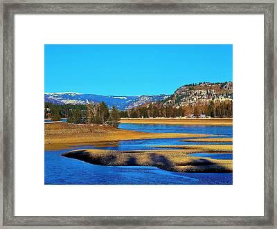Chrystal Blue Columbia Framed Print
