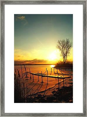 Chtistmas Dock 1 Framed Print