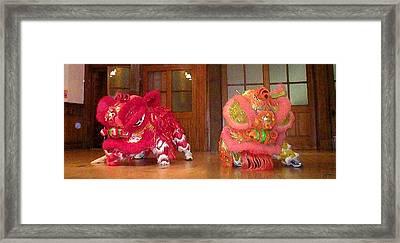 Chua Truc Lam Two Dragons - Dry Brush Framed Print by Shawn Lyte