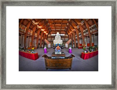 Chuang Yen Buddhist Monastery Framed Print by Susan Candelario
