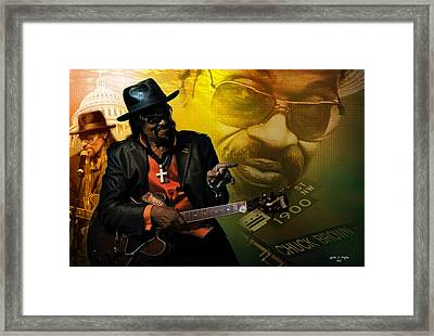 Chuck Brown Framed Print